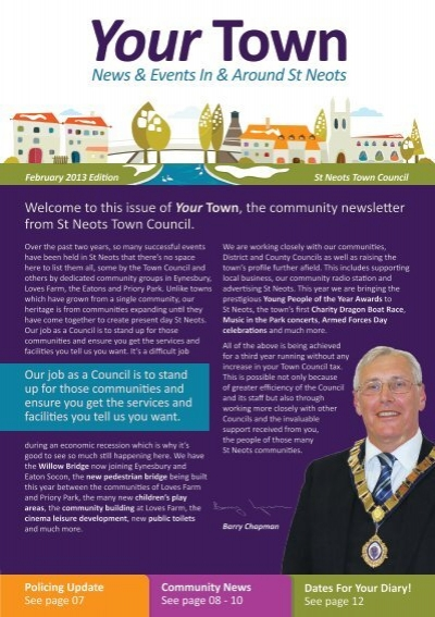 News Events In Around St Neots St Neots Town Council