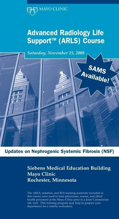 Advanced Radiology/ARLS Brochure - MC4295 - Mayo Clinic