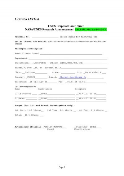 i cover letter cnes proposal cover sheet nasacnes