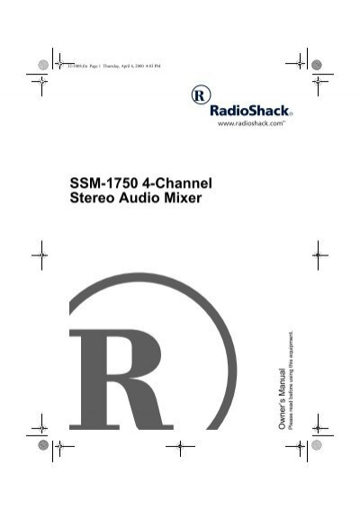 ssm-1750 4-channel stereo audio mixer