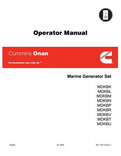 operator manual cummins onan rh yumpu com Cummins Manual Transmission Instruction Manual Cummins