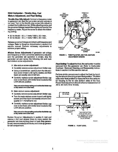 Nikki Carburetor Thrott