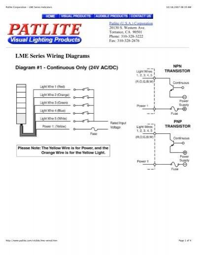 Patlite Corporation - Lme Series Indicators