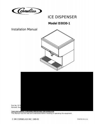 ICE DISPENSER - IMI Cornelius on
