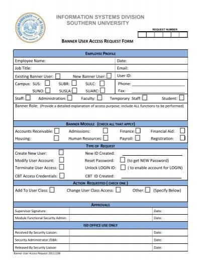 Mir Client Computer Access Request Form