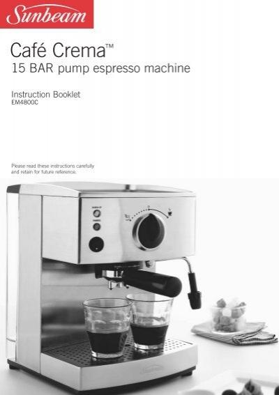 15 BAR Pump espresso machine - Sunbeam