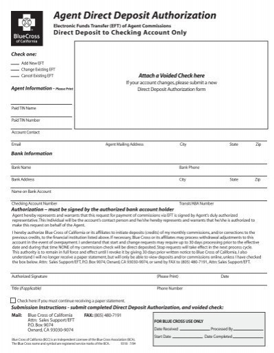 Agent Direct Deposit Authorization SuperAgent