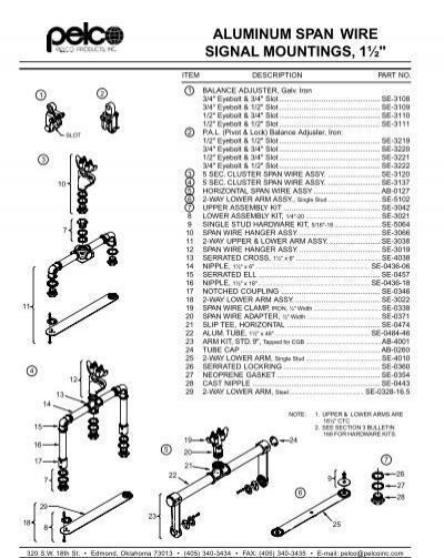 pelco span wire signal mounts  1 5 u0026quot  aluminum