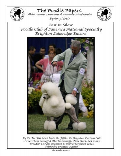 The Poodle Papers Poodle Club Of America