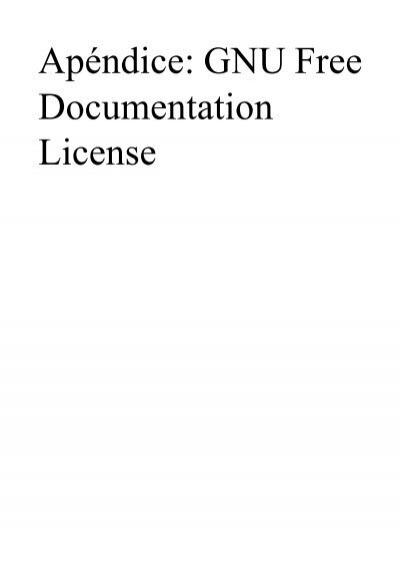 Apéndice: GNU Free Documentat...