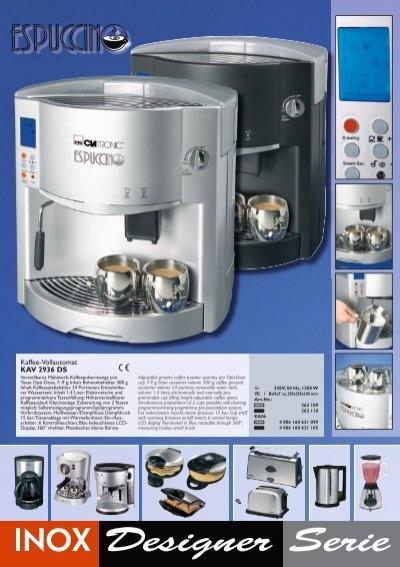 3 Espuccino Kaffee Vollau