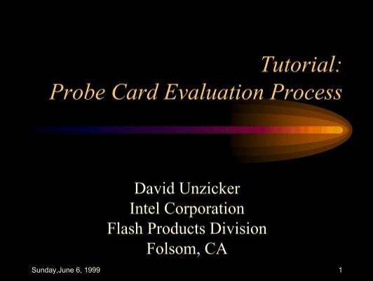 Probe card tutorial   printed circuit board   blade.