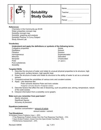 solubility study guide rh yumpu com Study Guide Template Pretty Study Guides
