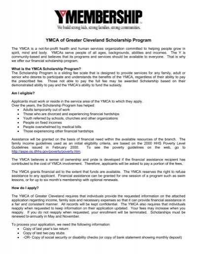 Array - ymca of greater cleveland scholarship program   the ymca of      rh   yumpu com