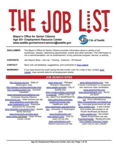 Job Search Sites Aging And Disability Services