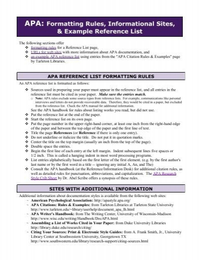 apa format rules basic