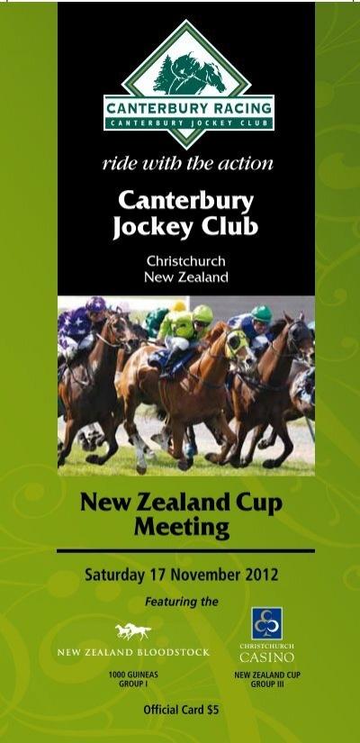 Saturday 1 November 2012 7 New Zealand Thoroughbred Racing