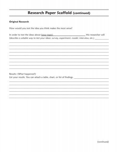scaffolding research paper
