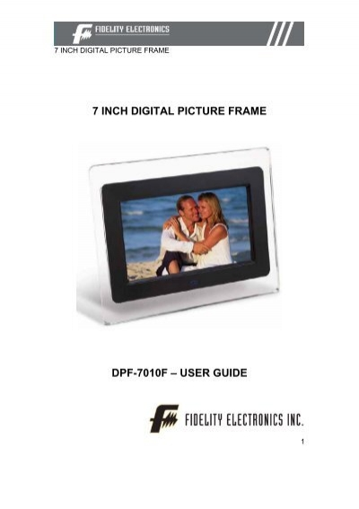 Kodak Pulse Digital Photo Frame Manual - User Guide Manual That Easy ...