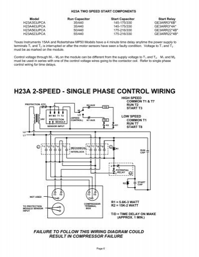 ha two speed start comp