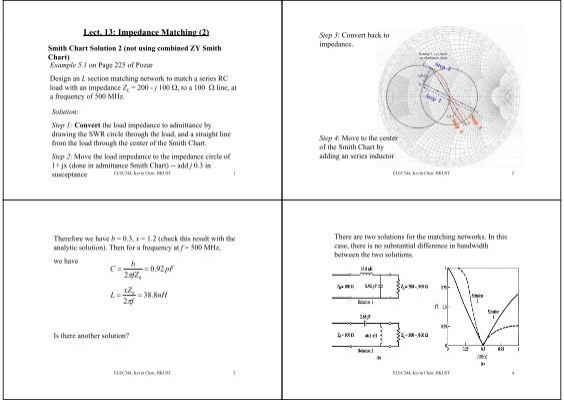 Lect 13 Impedance Matching 2