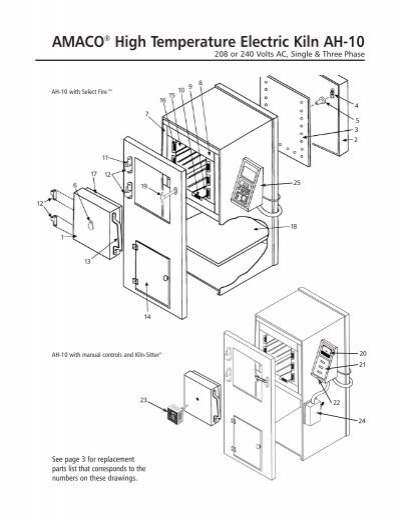 ah-10 instruction manual with parts list and wiring diagrams