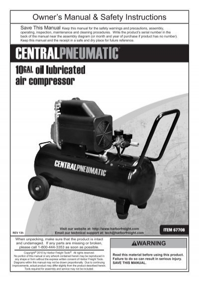 harbor freight air compressor pump. 2-1/2 hp 10 gallon 125 psi air compressor - harbor freight tools air compressor pump p