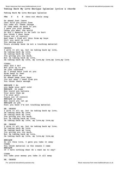 more love your love lyrics
