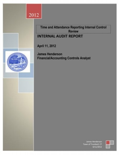 internal audit report time and attendance reporting trumbull