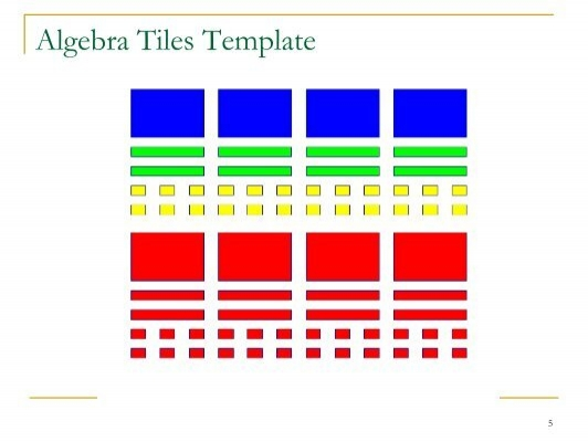 Unique algebra tile template ensign example resume ideas for Algebra tile template