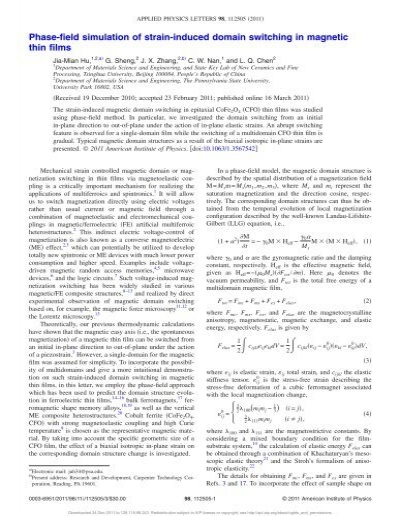 Applied Physics Letters 9