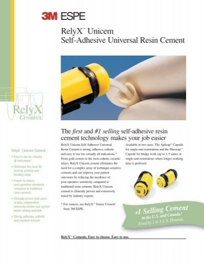 relyx unicem instructions for use
