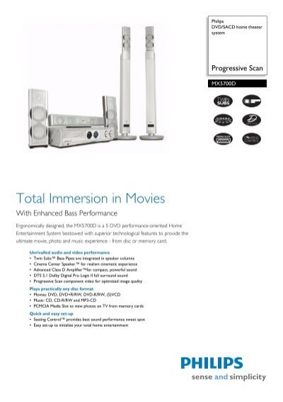 MX5700D/21R Philips DVD/SACD home theater system