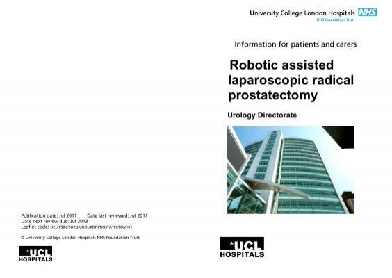 Robotic Assisted Laparoscopic Radical Prostatectomy