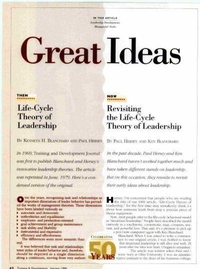 Hersey And Blanchards Situational Leadership Theory Pdf