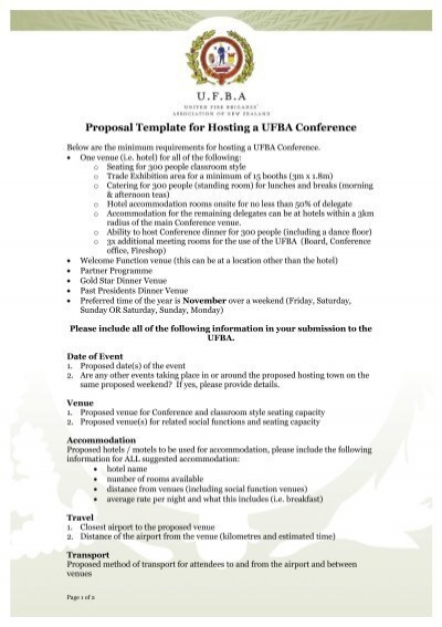 proposal template for ufba events