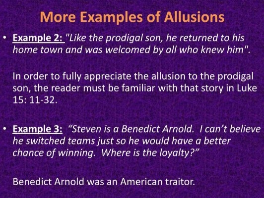 More Examples Of Allusion