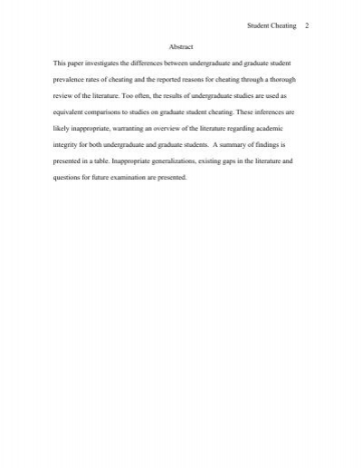 a personal opinion on cheating among students Teaching ethics courses and explaining non ethical behaviors in each course is also important in increasing the awareness of students towards cheating and plagiarism case studies the growing trend of cheating and plagiarism among students in higher education at howard university was explored in owunwanne et al (2010) .