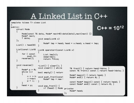a linked list in c temp