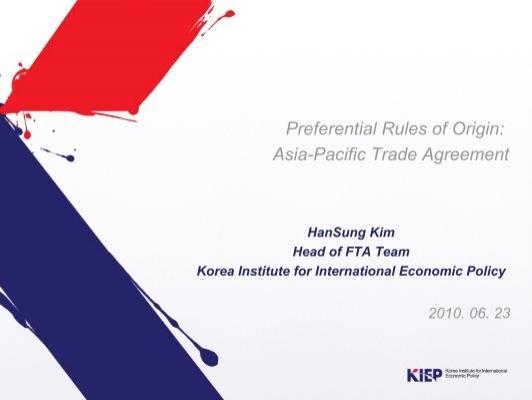 Preferential Rules Of Origin Asia Pacific Trade Agreement Escap