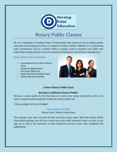 Notary Public Classes