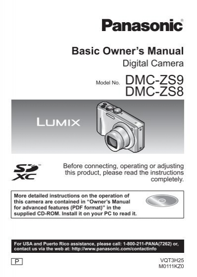 dmc zs9 dmc zs8 operating manuals for panasonic products rh yumpu com  panasonic lumix dmc zs8 instruction manual