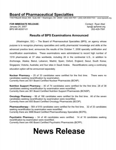 Results of BPS Examinations Announced - Board of