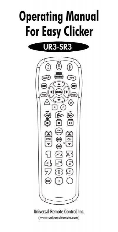 panasonic universal remote instructions