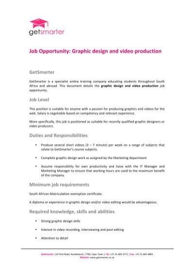 job description of a graphic designer