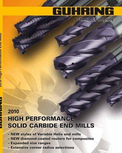 1//4/'1//4/'3//8/'2-1//2/' 5 Flute 0.0300/' Radius Carbide End Mill-tAC