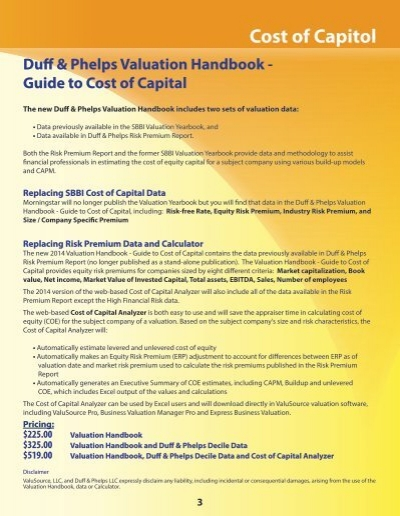 lex cost of capital solution