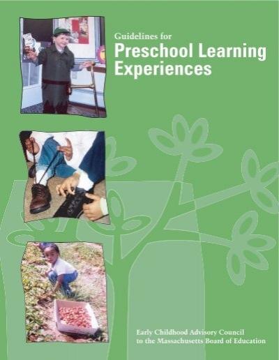Preschool Learning Experiences