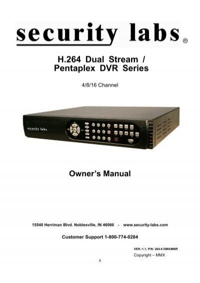 h 264 dual stream pentaplex dvr series home depot rh yumpu com H 264 DVR System Manuals pentaplex dvr software