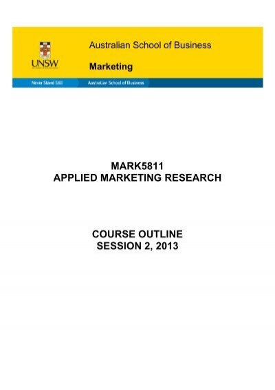 marketing research course outline Discover how to generate fresh and compelling marketing ideas this course covers more than a dozen ideation and brainstorming  find out how to research demand.